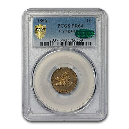 1856 Flying Eagle Cent PR-64 PCGS CAC Cent PR-64 - Cent Eagle 1856 Flying