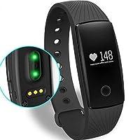 Willful Pulsera Inteligente Monitor de Pulso Cardiaco Pulsera Deporte Contador de Calorias/Monitor de Sueño/Contador de Pasos/Reloj,Compatible con iOS, Android Smartphone Soporta Llamada Mensaje