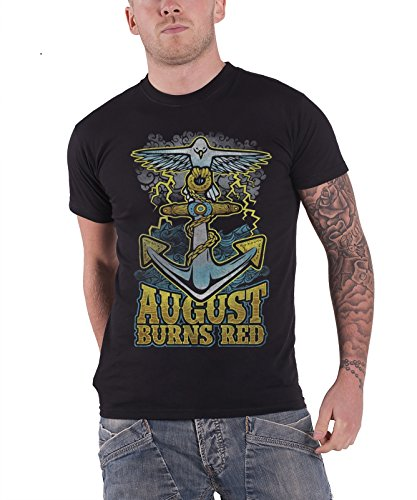 August Burns Red Dove Anchor Official Mens Black T Shirt
