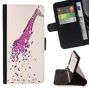 - Giraffe Cute Cartoon/ Personalizada del estilo del dise???¡Ào de la PU Caso de encargo del cuero del tir????n del soporte d - Cao - For Samsung Galaxy S5 Mini, SM-G800