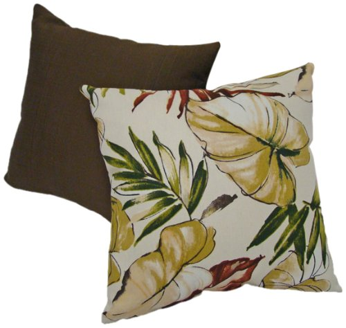 American Mills 33196.225 Indoor/Outdoor Barbados Pillow, 16 by 16-Inch, Set of 2 - This indoor/outdoor barbados decorative pillows add exceptional comfort and dramatic style to your patio decor Pillows are safe for use indoors or outdoors Set includes two pillows; spot clean only - patio, outdoor-throw-pillows, outdoor-decor - 51YjxK Qv%2BL -