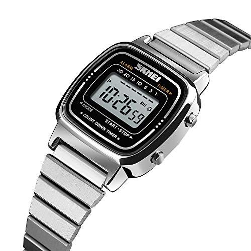 ronograph Watch Waterproof Elegant Silver Stainless Steel Wristwatch ()