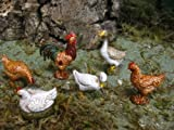 Figurines Animals Chicken Rooster Duck Nativity Scene 3.5'' - USA_Mall