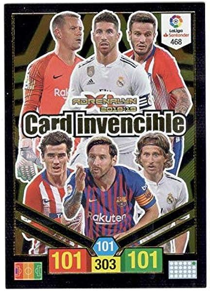 Panini Card Invencible Balón de Oro Adrenalyn XL 2018 2019 Messi Ramos: Amazon.es: Juguetes y juegos