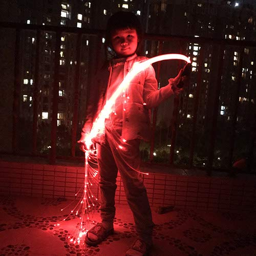 LED Fiber Optic Whip, Fiber Optic Dance Whips Super Bright, 6 Foot 360° Rotation More Modes and Effects, Light Up Rave Toy | EDM Pixel Flow Lace Dance Festival by Ninth-Mart (Image #2)