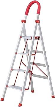 Escaleras Escalera de aluminio de 4 pasos, escalera de tijera, extensión extensible, escalera de tijera plegable Herramienta de huerto casero, broche de goma, pedal antideslizante: Amazon.es: Bricolaje y herramientas
