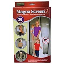 Magna Screen - 20 Built-In Magnets - Closes by Itself - Mesh Door Bug Screen