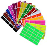 neon chart paper - Color coding labels Rectangle florescent neon 1.57 inch x 0.75 inch Rectangular stickers in 15 colors great for file folder tabs ( 40mm x 19mm ) - 300 Pack by Royal Green