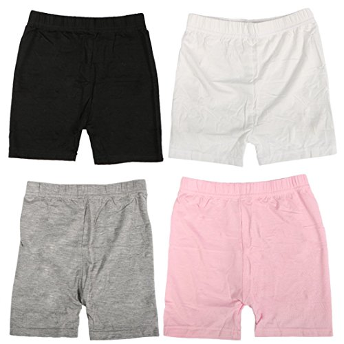 MyKazoe Girls' Bike Shorts, Sports and Under Skirts (4T/5T, Black, White, Grey, Pink) by MyKazoe