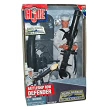 GI Joe Year 2000 Echo Pearl Harbor Collection Series 12 Inch Tall Soldier Action Figure - BATTLESHIP ROW DEFENDER with Sailor Figure, Sailor Uniform with Trousers, Jumper and Neckerchief, .50 Caliber Water-Cooled Machine Gun, Hat, Dress Shoes and Dog Tags