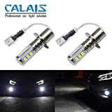 Calais Super Bright White LG Chips H3 30W 1200LM LED Bulbs for DRL or Fog Lights Plug-n-Play(pack of 2)