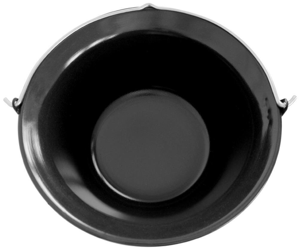Grillplanet 15 L Gulaschkessel mit Dreibein schwarz 1,30 m und Deckel emailliert 15 Liter Topf Kesselgulasch Set