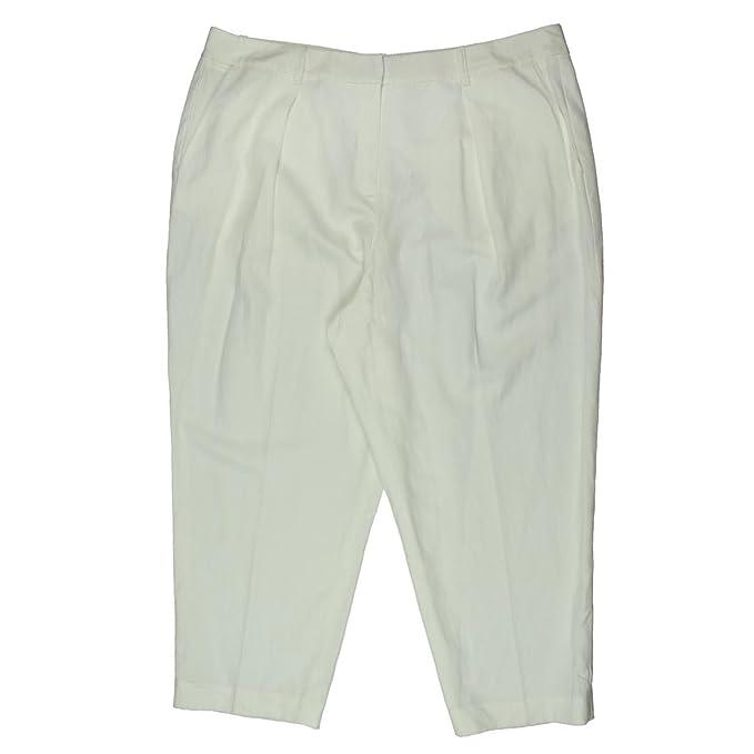 8d72574bc14 Anne Klein Womens Woven Blend Ziggy Dress Pants White 4 at Amazon ...