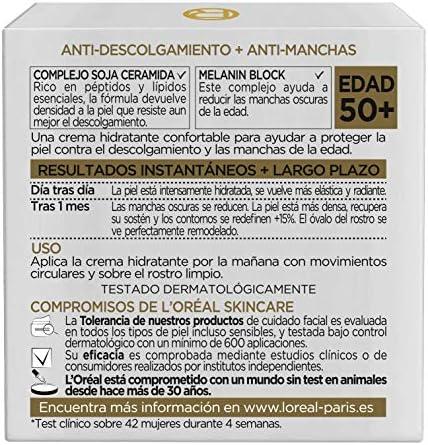 L'Oréal Paris Age Perfect Set de Crema de Día Hidratante y Contorno de Ojos Antiojeras, Antiarrugas y Luminosidad, Pieles Maduras, 50 ml y 15 ml