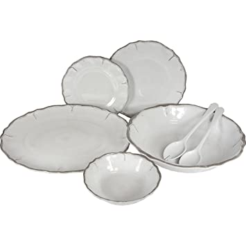 Amazon.com   Le Cadeaux Provence Solid Dinner Plate 11\  White Melamine Dinnerware In Home And Kitchen Salad Plates  sc 1 st  Amazon.com & Amazon.com   Le Cadeaux Provence Solid Dinner Plate 11\