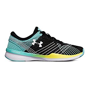 Under Armour Women's Threadborne Push, Black/Tropical Tide/White, 9 B(M) US