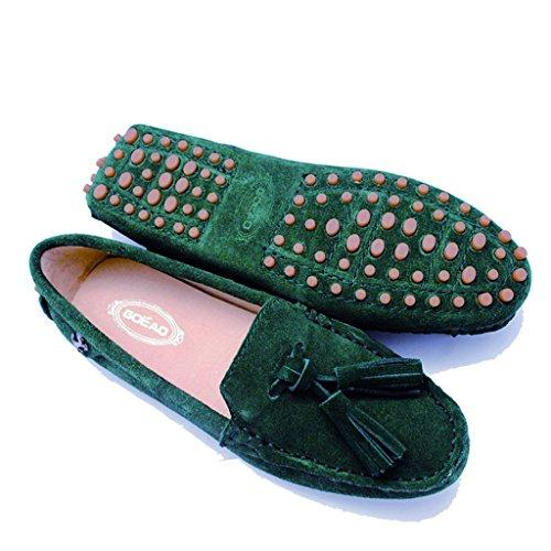 Meijili ,  Damen Durchgängies Plateau Sandalen Emerald Green