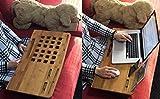 "Image of Multi Tasking Lap Desk Mobile Laptop Cooling Desk for Macbook Air Pro 13"" 15"" 17"" & Notebooks. Premium Bamboo Lap Desk & Display Charger Docks for iPhone Smartphones All iPad & iPad Mini (Lap Desk)"