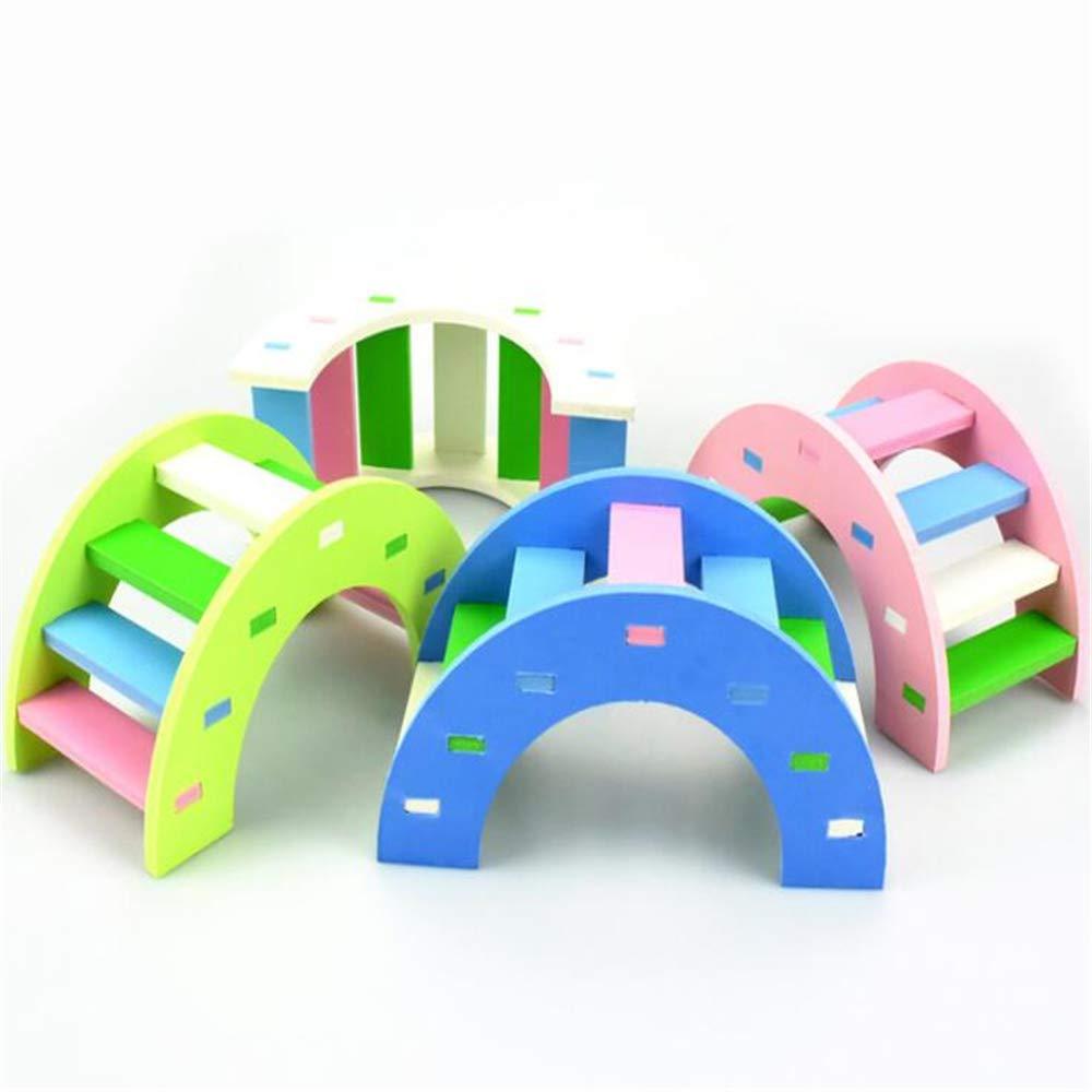 WXH Hamster Toys - Kit de Escalada de Arco Iris de Madera para ...