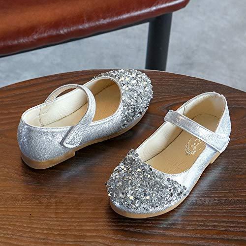 Pelle Danza Scarpe Ballerina Bimba Bambina Topgrowth Piatto Festa Singole Argento Partito Eleganti Lustrino Principessa Ballerine UxYqZE