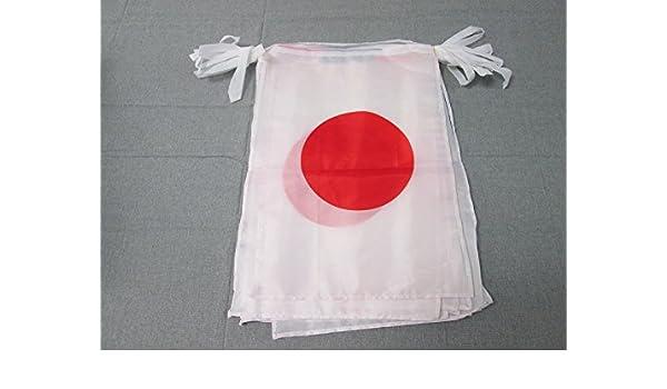 AZ FLAG Guirnalda 12 Metros 20 Banderas de JAPÓN 45x30cm - Bandera JAPONÉSA 30 x 45 cm - BANDERINES: Amazon.es: Jardín