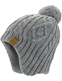 Baby Boys Girls Knit Hat Skiing Winter Caps With Warm Ear Flap