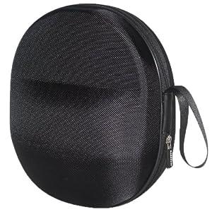 XXL Sturdy Hard Shell Headphone Carrying Case, Headset Storage for Travel | Impact Protection for Beyerdynamic, Audio Technica, Sony, Sennheiser, David Clark, AKG & More | Black Ballistic Nylon, XXL