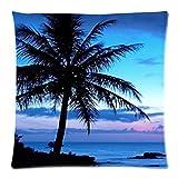Bernie Gresham Tropical Hawaii Beach Palm Tree Summer Sunshine-Custom Pillowcase