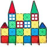 Alek...Shop Educational Construction Toys Magnetic Building Kids 60Piece Tiles Toy Set w/ Carrying Case Multicolor