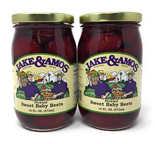 - Jake & Amos - Pickled Sweet Tiny Baby Beets / 2 - 16 Oz. Jars