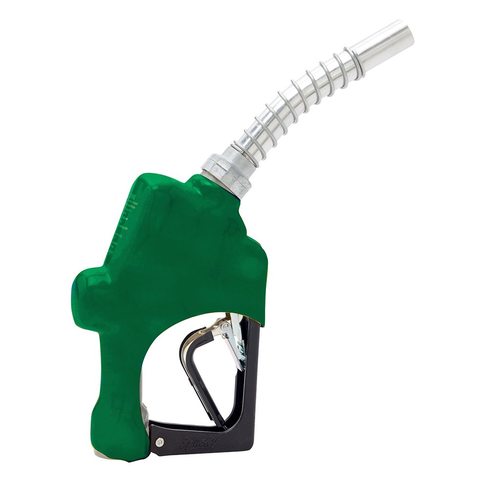 Husky 209803N-03 New 1A Light Duty Diesel Nozzle with 3-Notch Hold Open Clip and Green Hand Guard