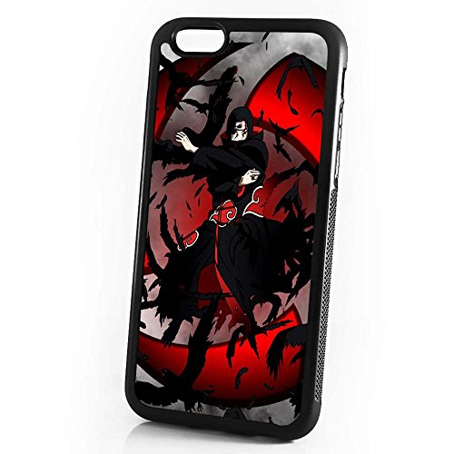(For iPhone 6/iPhone 6S) Durable Protective Soft Back Case Phone Cover - HOT30152 Naruto Itachu (Sharingan Apple)