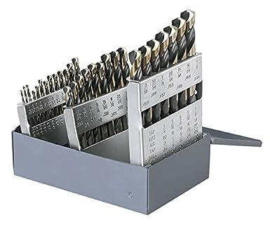 12 Pcs 9//32 Heavy Duty Black /& Gold Mechanics Length Drills