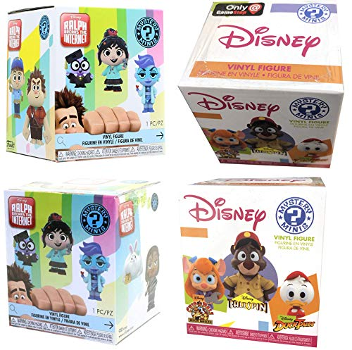 Internet Afternoons Mystery Minis Figures 2 Exclusive Disney Character Blind Box Gamestop + 2 Wreck It Ralph Bundle 4 Items
