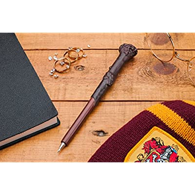 Harry Potter Officially Licensed Merchandise - Harry's Wand Pen - Ballpoint Pen Black Ink: Office Products