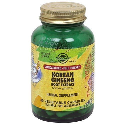 Solgar - Extrait de racine de ginseng coréen, 60 veggie caps