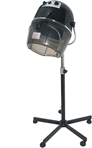 D Salon Portable Professional Hair Dryer Hood 980 Watt Salon Beauty Bonnet Style - Black