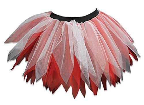Poule Danse Jupe Nuit Usure Blanc Robe Mini Dames Nouveau Femmes Fte Fantaisie Couches Ptale Janisramone Tutu 6 Zombi Rouge Club fTz8wxTq