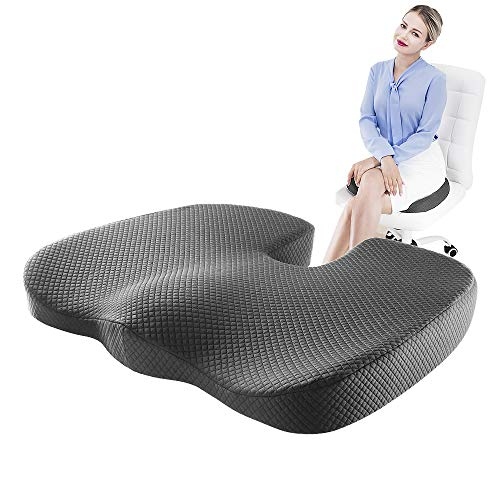Memory Foam Seat Cushions For Office Chairs Everlasting Comfort Seat Cushion Sciatica Pillow For Sitting Chair Cushion For Back Pain Z Dreamer Car