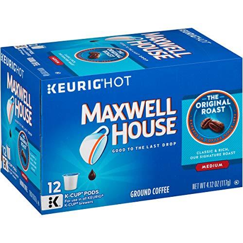 Maxwell House Original Medium Roast Keurig K Cup Coffee Pods (72 Count, 6 Boxes of 12)