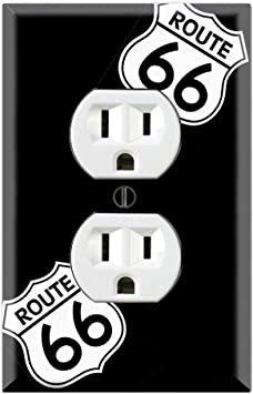 Graphics Wallplates Route 66 Sign Duplex Outlet Wall Plate Cover Amazon Com