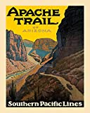 """MUST SEE Apache Trail of Arizona West USA Travel Tourism Vintage Poster Repro 16"""" X 20"""" Image Size. We Have Other Sizes Available!"""