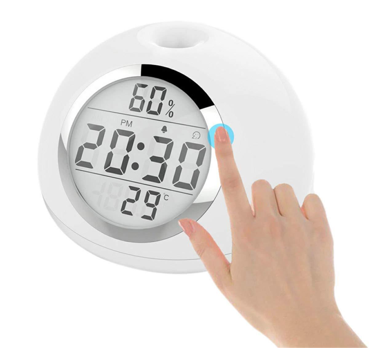 目覚まし時計の目覚めライト7色ベッドサイドの目覚ましライトLED自然音とタッチコントロール目覚まし時計モーションセンサー。 B07PB8YHM6