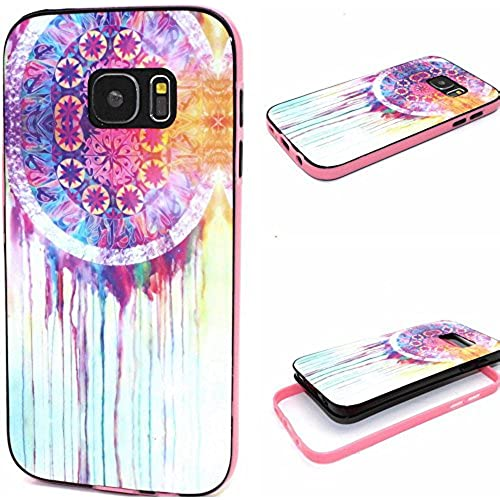 Galaxy S7 Edge Case, Wandeneng Hybrid Fancy Colorful Pattern Hard Soft Silicone Bumper Case Fit for Galaxy S7 Edge(2016) (Dreamer) Sales