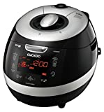 Cuckoo CRP-HZ0683F 6 Cup Induction Heating Pressure Rice Cooker, 110V, Black.
