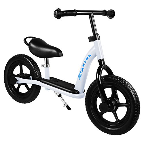 Maxtra Balance Bike Footrest Designed Bicycle Lightweight Adjustable White for Ages 2 to 7 Years Old by Maxtra