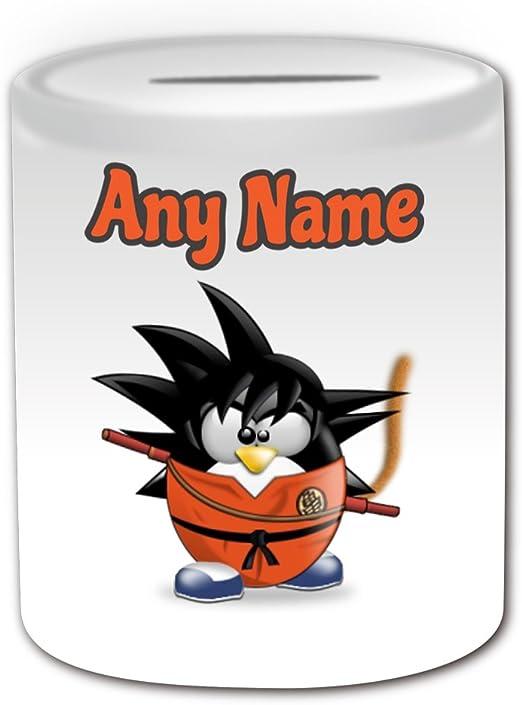 Personalizado regalo – hijo Goku caja de dinero (pingüino disfraz ...