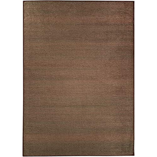 RUGGABLE Washable Stain Resistant Indoor/Outdoor, Kids, Pets, and Dog Friendly Area Rug 5'x7' Solid Textured Espresso (Best Affordable Home Espresso Machine)