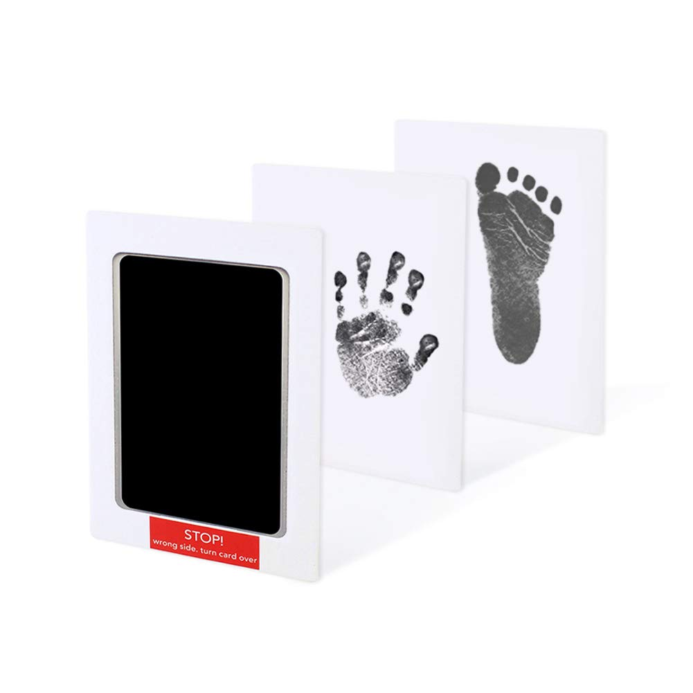 Perfect Family Keepsake Baby Shower Gifts Dsaren Newborn Baby Handprint and Footprint Kit Non Toxic and Clean Touch Paw Print Ink Pad with 2 Imprint Cards
