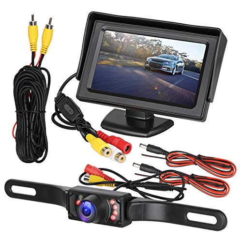 EEEKit Car Backup Camera Rear View Parking System Kit with 4.3